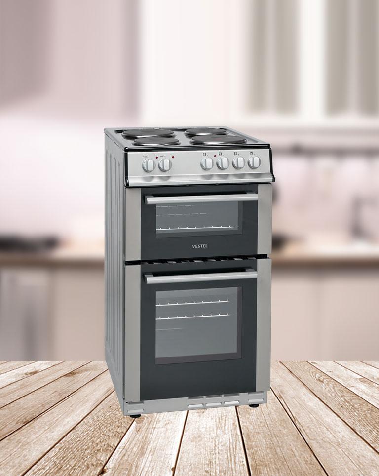 Cuisini re double four electrique avec plaques electriques - Cuisiniere double four ...